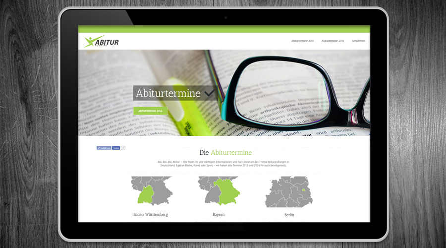 Abiturtermine Website / Webdesign Hamburg