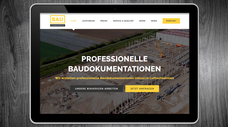 Baudokumentationen.de Projekt online Marketing & Webdesign