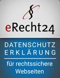 eRecht24 Siegel Agentur - Datenschutzerklärung