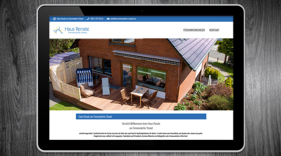 Ferienwohnung Timmendorfer Strand - Schleswig Holstein Website