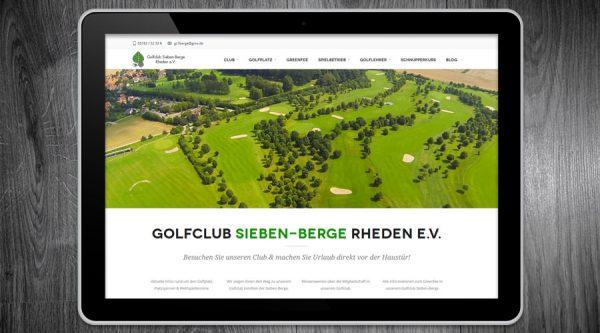 Golfclub Sieben Berge Rheden / Alfeld Website - Videoproduktion