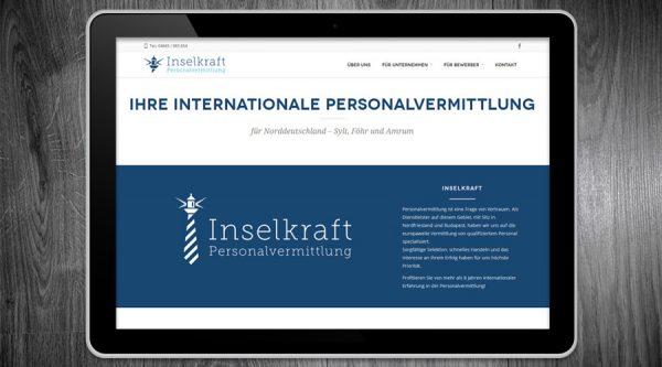 Inselkraft Personalvermittlung - Website Schleswig-Holstein SEO