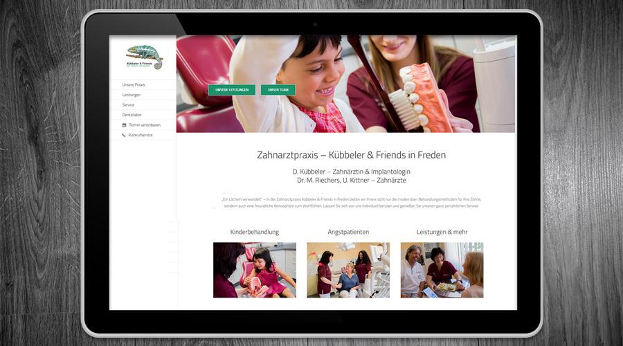 Kübbeler & Friends Zahnarzt Freden / Alfeld Webdesign / Fotografie