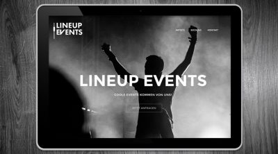Lineup Events - Webdesign Hamburg