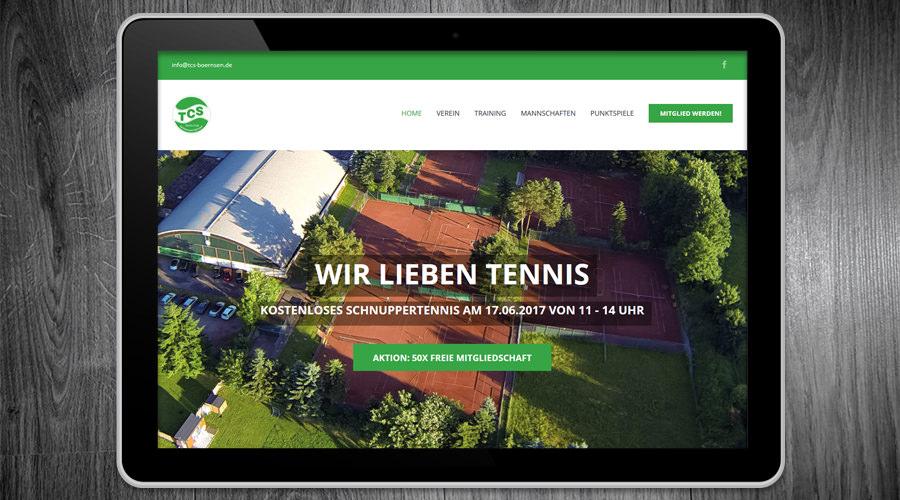 TCS Börnsen - Tennisclub - Webdesign Schleswig Holstein