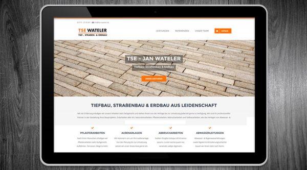 TSE Waterler Tiefbau Schleswig Holstein Website / Webauftritt