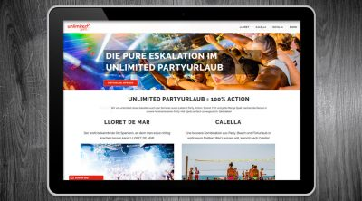 Unlimited Partyurlaub - Webdesign Hamburg